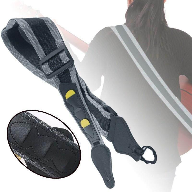 Guitars - Adjustable Nylon Guitar Holder Strap Belt Bass Ukelele Musical Instrument Parts Malaysia