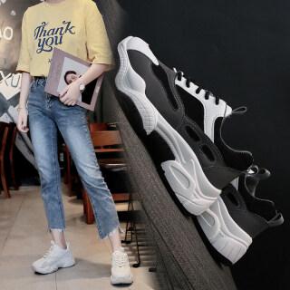 Màu Đen Giày Nữ Thủy Triều Trong Trí Tuệ Hun Khói Đôi Giày Màu Đỏ Gấu Trúc 2020 Nữ Mùa Thu Dày Thể Thao Nữ Giày Thường thumbnail