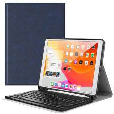 Bao iPad 10.2 2019 Có Bàn Phím Và Ngăn Đựng Bút, Vỏ Da Gập Có Giá Kê Đứng, Bàn Phím Bluetooth Tự Động Tắt/Ngủ Thông Minh Cho Apple iPad Thế Hệ Thứ 7 10.2 Inch 2019