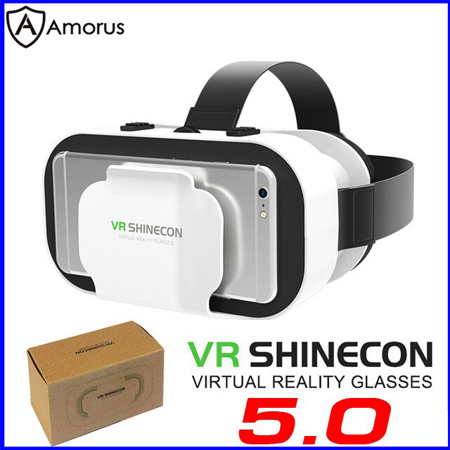 Hộp Kính Thực Tế Ảo SHINECON Thế Hệ 5, Hộp Kính VR Chơi Game 3d Cho Điện Thoại 4.7 Inch Amorus Vr