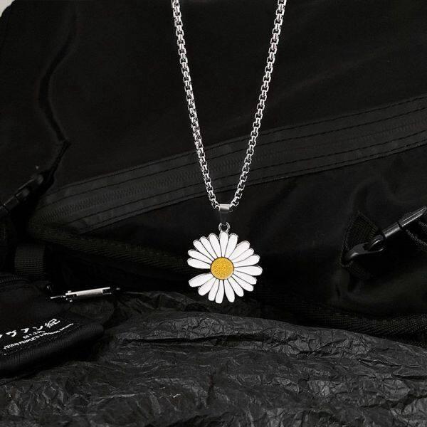 Dây Chuyền Vòng Cổ Có Mặt Dây Chuyền, Hoa Cúc Hoa Hướng Dương Vật Liệu Hợp Kim Nhỏ Dành Cho Nữ