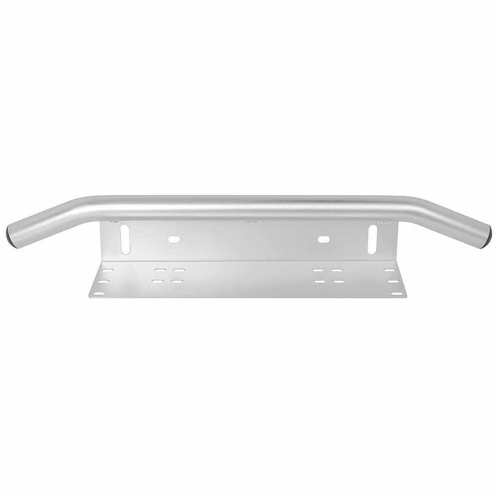 Car Front bumper License Plate Bracket Work Light Mount Holder Universal Silver