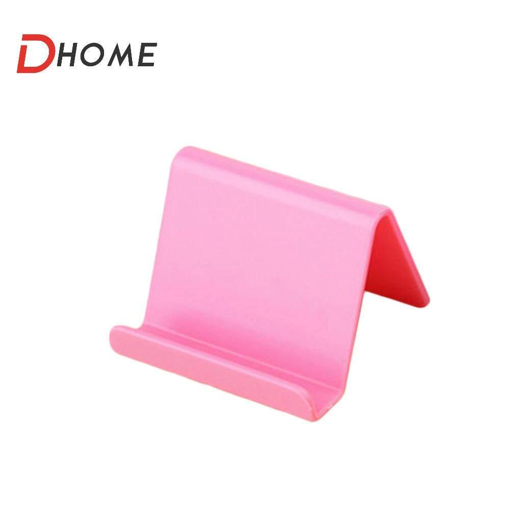 D-Universal Home Penyangga Ponsel Plastik Berdiri Dasar untuk iPhone 7 8 X untuk Samsung untuk Xiaomi Smartphone Warna Permen Ponsel Braket Telepon