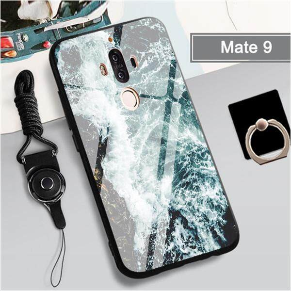big sale 23260 8d33c Tempered Glass Case For Huawei Mate 9 Casing Lovely Shockproof Cover