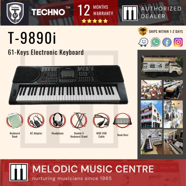 【Local Ready Stock】Techno T-9890i 61-Keys Electronic Keyboard (Techno Keyboard / Dangdut) Malaysia