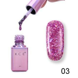 Gel sơn bạch kim tia UV hiệu ứng đầy sao long lanh, gel sơn nền móng tay nghệ thuật - INTL thumbnail