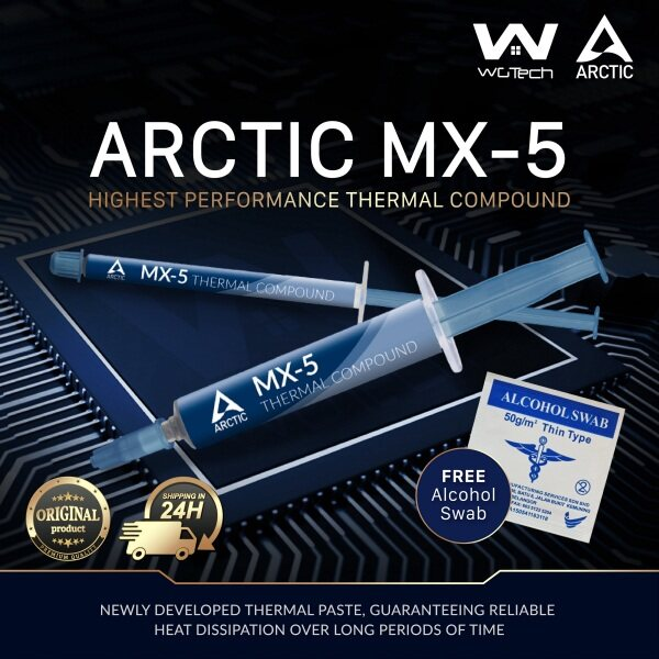 [FREE TOOLS] Arctic MX-5 High Performance Carbon Micro Thermal Paste Malaysia