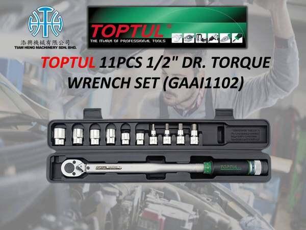 TOPTUL 11PCS 1/2 DR. TORQUE WRENCH SET (GAAI1102)
