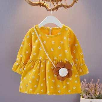 สาวแต่งตัวเด็กดอกไม้ชุดแขนยาวเด็กเสื้อผ้าเด็กสาวเสื้อผ้า 1-4y