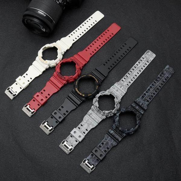 Dây đeo đồng hồ làm bằng nhựa dẻo có đường viền ốp dùng cho đồng hồ Casio G-SHOCK A-110 GA100 GA120 GA150 GA200 GA200 GA300 GA400 GD-120 /100/110 (sản phẩm không bao gồm đồng hồ) - INTL