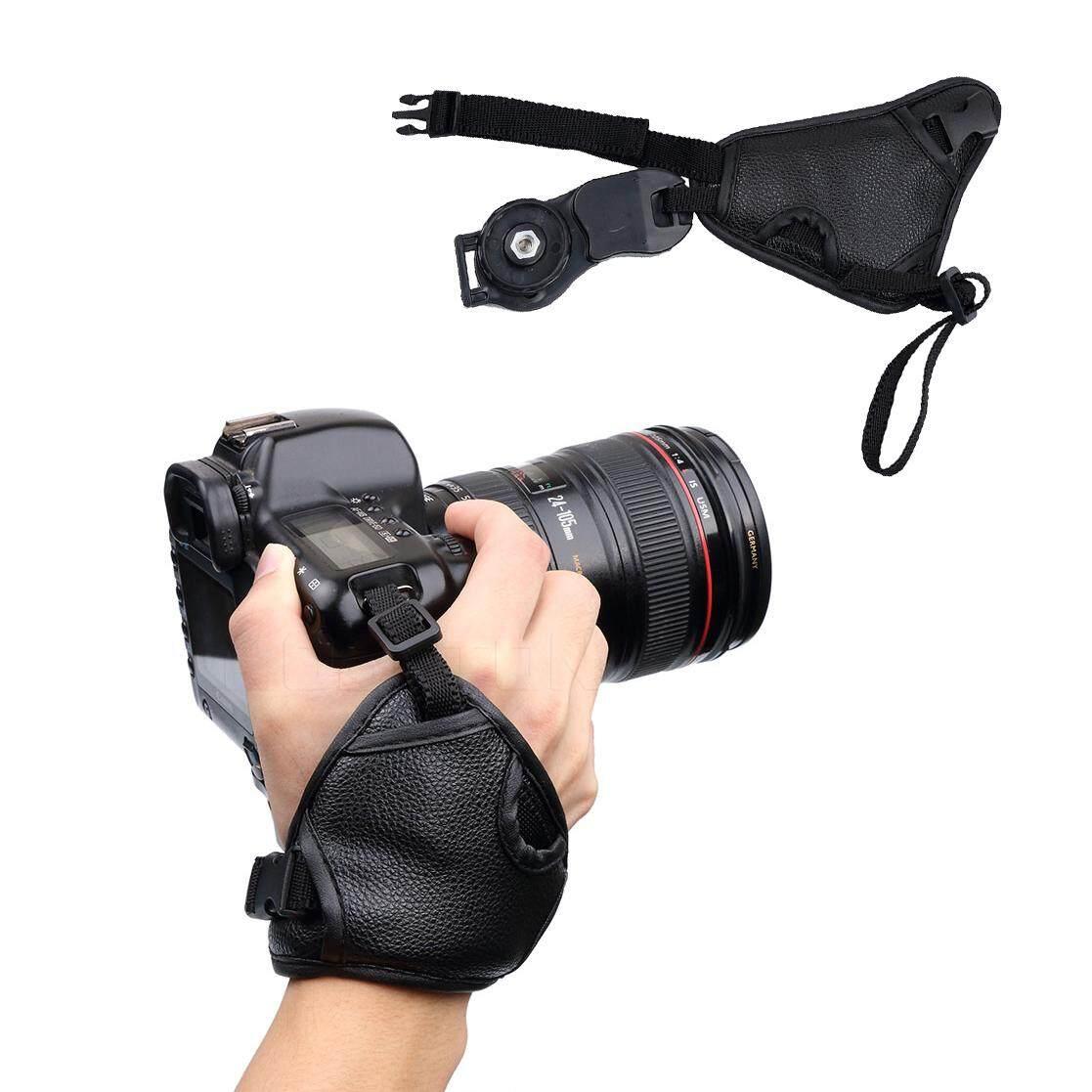 Pu Leather Soft Camera Hand Wrist Strap Grip For Nikon D7100 D5500 D5300 D3300 D610 For Canon Sony Slr/dslr Camera By Kobeton Technology.