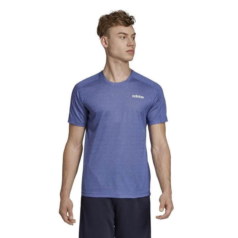 3676cd5e87 Adidas Men's Design 2 Move 3 Stripes Tee Short Sleeve (Active Blue)