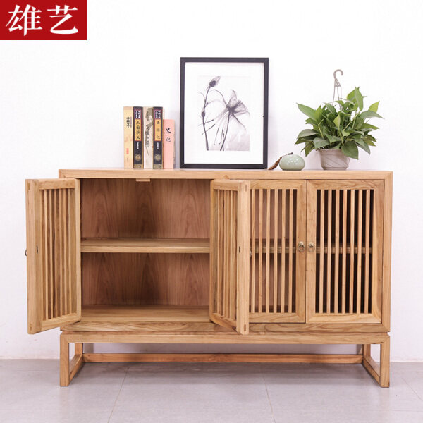 Old Elm Sideboards Cabinet New Chinese Style xuan guan ju Simple Solid Wood Tea Cabinet SHOEBOX Locker Paint-free Furniture