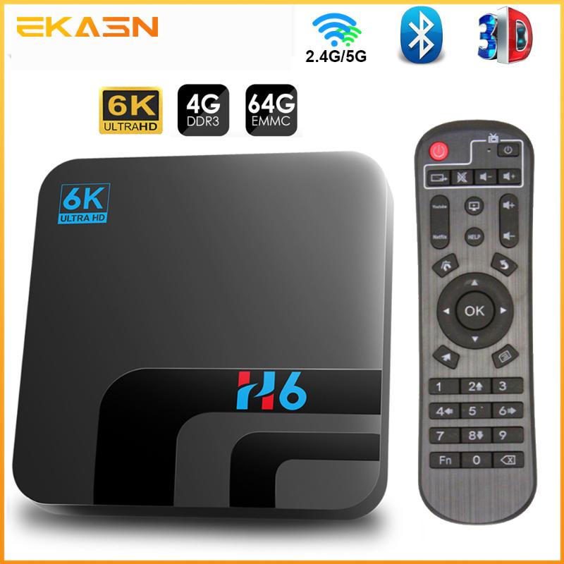 Android TV Box Máy Phát Đa Phương Tiện Android 10 4GB 64GB 32GB 6K 3D H.265, Bộ Wifi Bluetooth 2.4G 5GHz Top Box Thông Minh TV Box