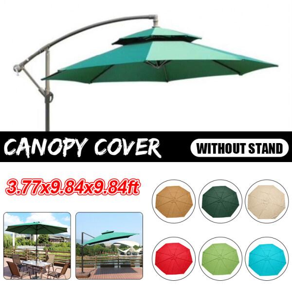 3.77x9.84x9.84ft Octagon Outdoor Garden Parasol Canopy Cover Yard Patio Umbrella Fabric Rain-proof/Sunscreen/ Anti-corrosion/Wind-resistance/Durable
