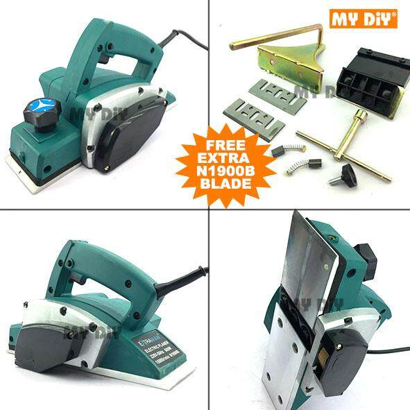 MYDIYHOMEDEPOT - EXTRAMAN 600W Corded Electric Wood Planer with FREE Extra N1900B Blade