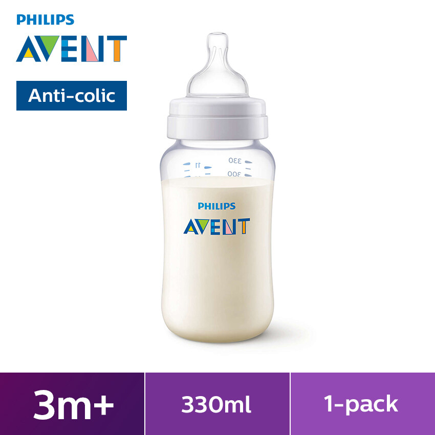 Philips Avent Feeding Bottle SCF696//17 330ml With Variable Flow For Babies 3m+