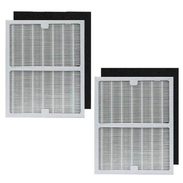 2 Pack IAF-H-100A Hepa & Pre-filters Set for Idylis Air Purifiers AC-2119, IAP-10-100, IAP-10-150, IAPC-40-140, Model # IAF-H-100A,IAFH100A,Includes 2 HEPA & 2 Carbon Filters