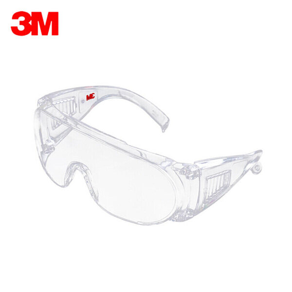 3M 1611HC Safety Glasses Professional Goggles Eyewear UV Protection Anti Dust Windproof Anti Fog Coating Eye Wear with Clear Lens for Eye Protection