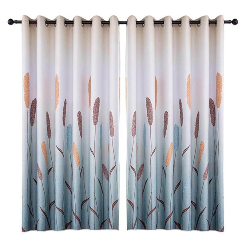 Reed In Polyester Rèm Cửa Sổ Màn Cửa Phòng Khách Rèm Cửa Làm Tối
