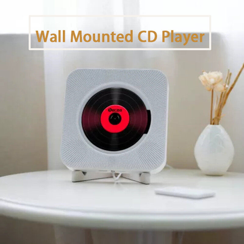 Wall Mounted CD Player Surround Sound FM Radio Bluetooth USB MP3 Disk Portable Music Player Remote Control Stereo HiFi Speaker Home Singapore