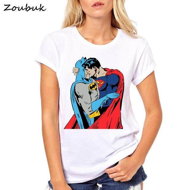 2018 Summer Tops Anime Cartoon Batman and Catwoman T Shirt Women Cool Tee  Female t- 11a7f9f30b40