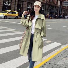 Áo Gió Cho Nữ Áo Khoác Lửng Dáng Rộng Cổ Đứng Cạp Dài Phong Cách Hàn Quốc Cỡ Nhỏ Thời Trang Mùa Thu 2020