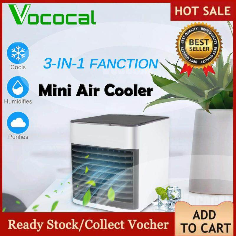 【Free shipping】Vococal 3 In 1 Mini Air Cooler With Ultra Evaporative Portable Air Conditioner Personal Space Cooler for Home Office Dorm Singapore