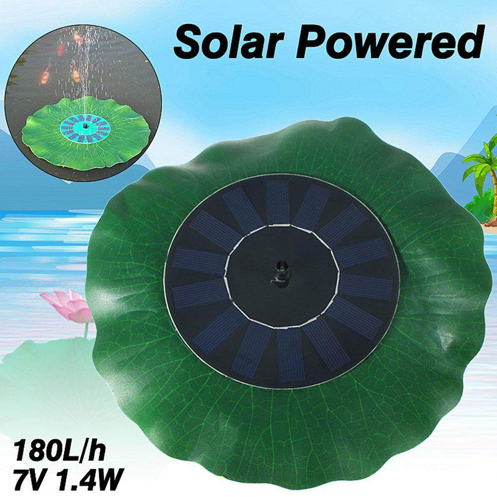 niceEshop Solar Bird Bath Fountains Pump,1.4W Solar Fountain Pump, Solar Power Storage, 600mAh Battery Backup,for Garden Decoration, Water Basins, Swimming Pools, Rockeries, Fountains