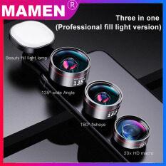 Bộ 3 ống kính chụp ảnh Mamen cho điện thoại di động góc rộng, macro, chụp ảnh HD, tương thích với IOS Android – INTL