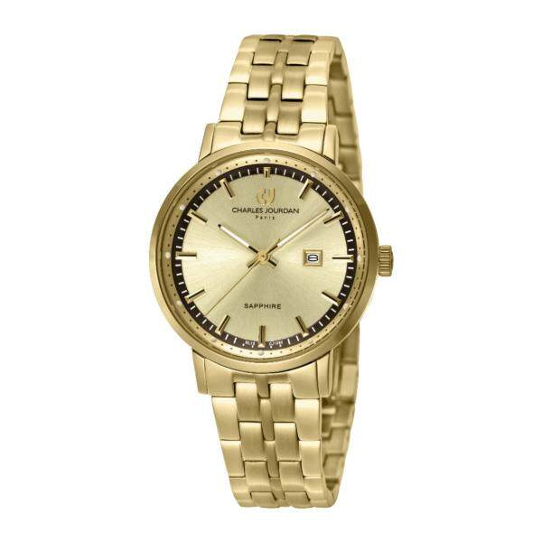 Charles Jourdan Women Watch Jam Tangan Wanita CJ1050-2222 Gold Stainless Steel Watch Malaysia