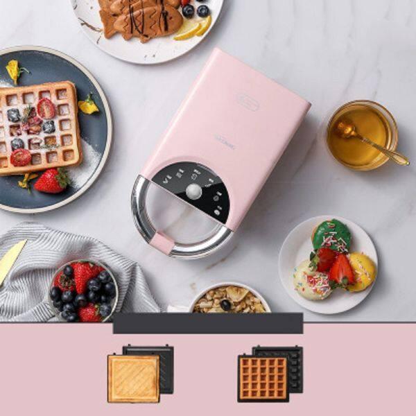 Máy Làm Bánh Sandwich Hai Đĩa, Máy Làm Bữa Sáng Cho Hộ Gia Đình Đa Chức Năng, Đồ Ăn Nhẹ, Bánh Mì Nướng, Báo Chí