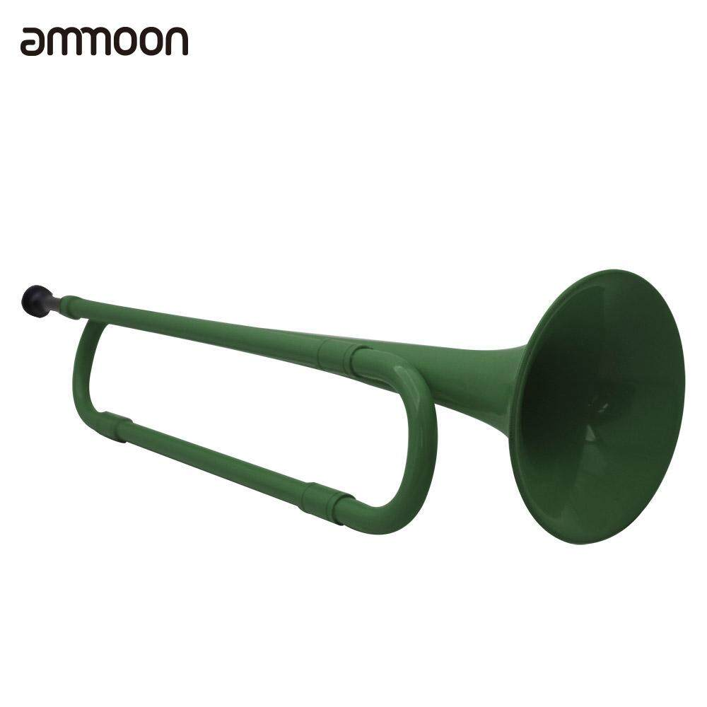 B Flat Bugle Cavalry Trumpet Environmentally Friendly Plastic With Mouthpiece For Band School Student By Tomtop.