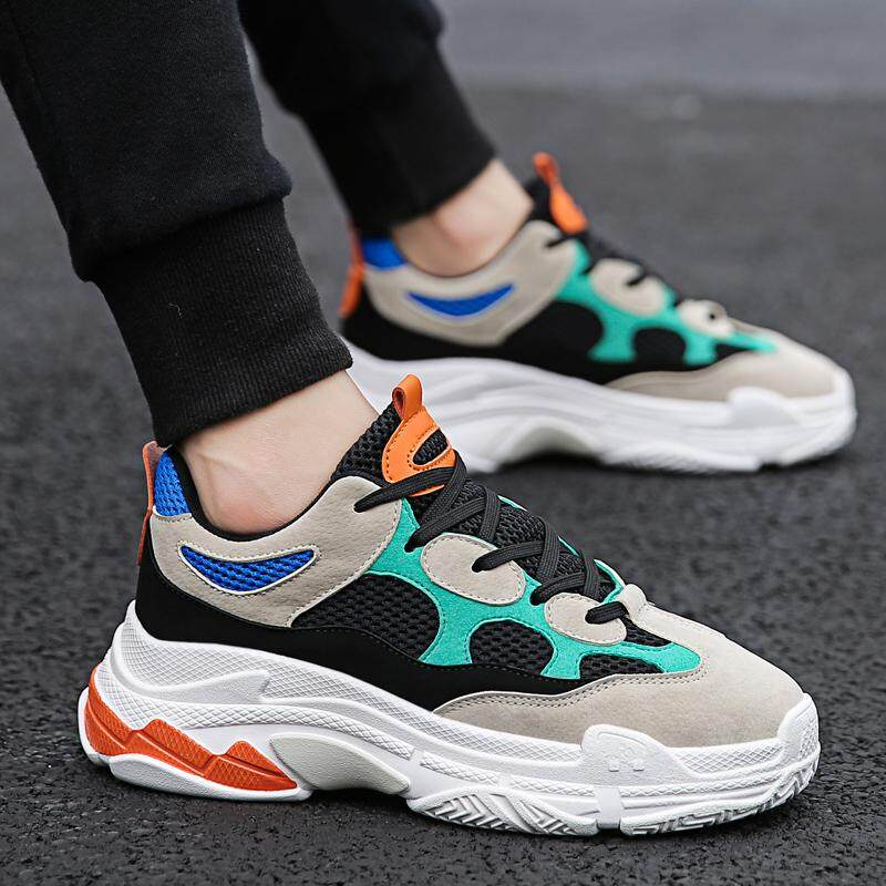 cf0926fa6eff OLdPAPA Shoes man Thick Bottomed boy men Trendy Shoes 2018 Spring Versatile  Ulzzang Harajuku Wind Sports