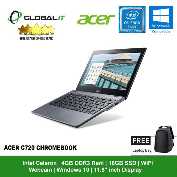 (Refurbished Notebook) Acer C710/C720 Chromebook Laptop / 11.6 inch LCD / Intel Celeron / 4GB DDR3 Ram / 16GB SSD / WiFi / Windows 10 / Webcam Malaysia