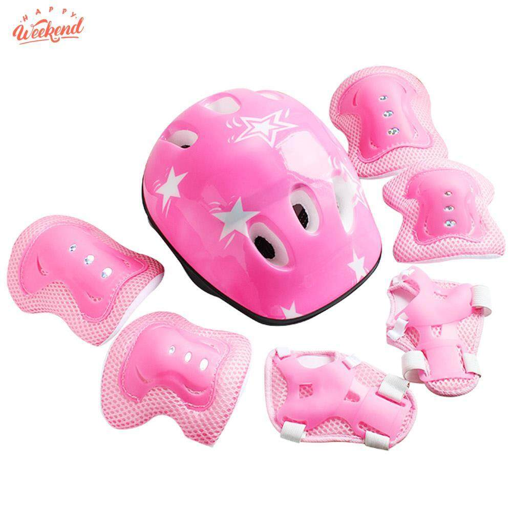Children Bike Helmet Protective Knee Pads Protective Helmet High Density Bicycle Helmet Elbow Pads Protection Bike