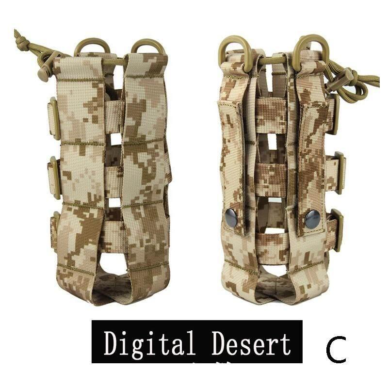 Outdoor Durable Nylon Tactical Molle Water Bottle Bag Kettle Pouch Belt Holder