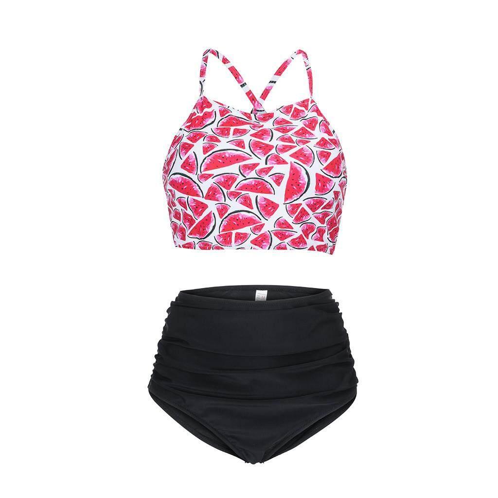 3af75dd41b Vernonstore Women s Watermelon Sexy Two-piece Swimsuit Swimsuit Beachwear  Bikini