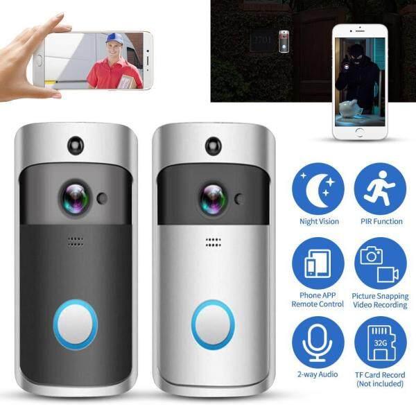 【Gift】smart Video Chuông Cửa Có Pin 1080P FHD Wifi Không Dây Chống Trộm Thật Sự Dây-Giá Rẻ Camera Trong Nhà chuông + Miễn Phí Dịch Vụ Đám Mây + Cách Thảo Luận + Kính Nhìn Xuyên Đêm + Ứng Dụng Điều Khiển Dành Cho Điện Thoại Thông Minh
