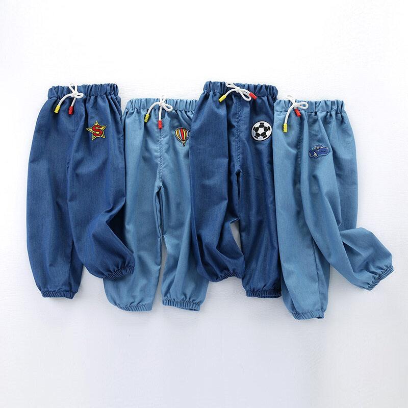 Quần Jeans Dài ANNN Cho Trẻ Em, Quần Bò Chống Muỗi Thường Ngày Chất Liệu Cotton