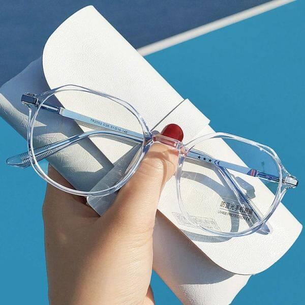 Giá bán Máy Tính Chống Bức Xạ 2021, Glasse Kính Mắt Tròn Không Đều Chống Màu Xanh Dương Cho Học Sinh Nữ