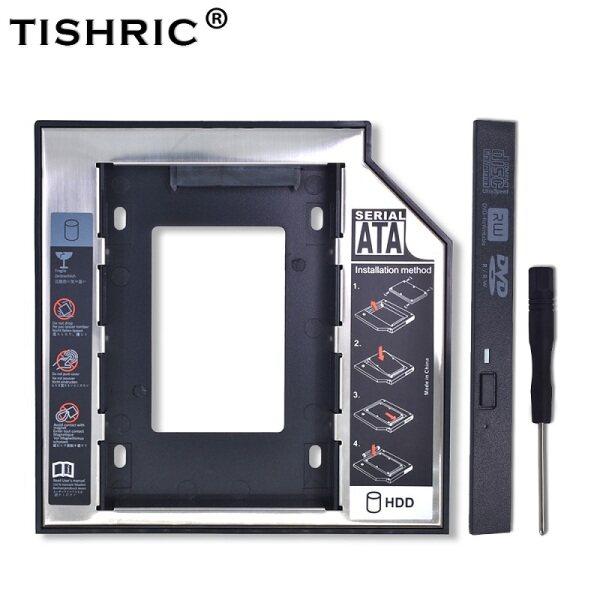 TISHRIC 2nd 2.5 HD 12.7mm SATA 3.0 HDD/SSD Caddy Enclosure/Adapter For External Hard Drive Disk 2TB Box CD DVD ROM Optibay Case