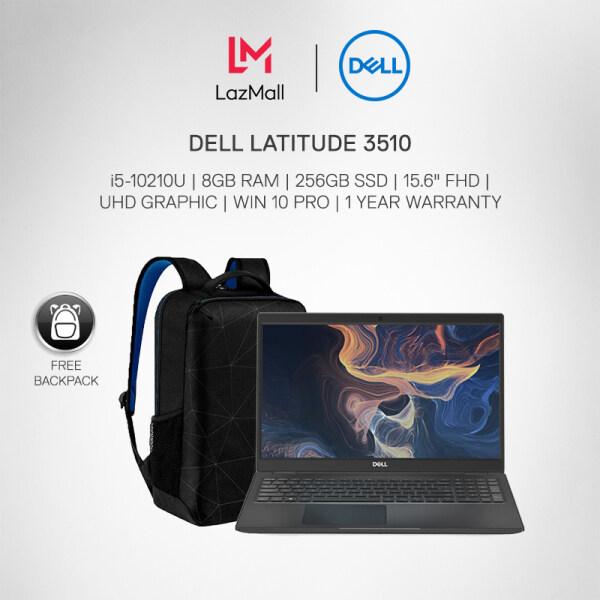 DELL LATITUDE 3510 BUSINESS LAPTOP (i5-10210U/8GB RAM/ 256GB SSD/ 15.6 FHD/ UHD GRAPHIC/ WIN 10 PRO/1 YEAR WARRANTY) + Backpack Malaysia