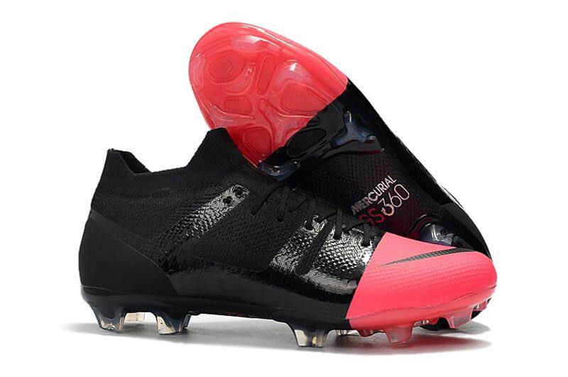 1ab5c61f2836 Original Men s Mercurial Greenspeed 360 FG Soccer Shoes Outdoor Sport  Football Boots Black Pink
