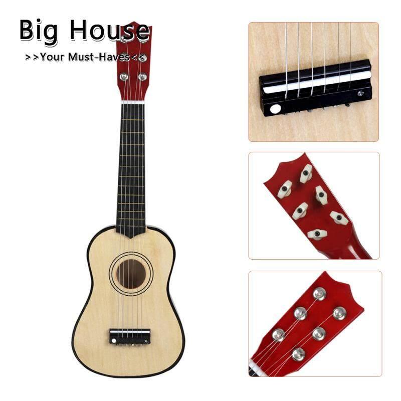 Nhà Lớn 21 Inch Đàn Ukulele Sơ Khai Hawaii 6 Dây Đàn Guitar Ukelele Dành Cho Trẻ Em Kids