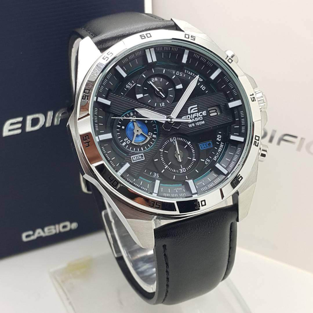 Blue Moon Valley Casio_Edifice Efr 539 Leather Strap Fashion Men Watch All Function