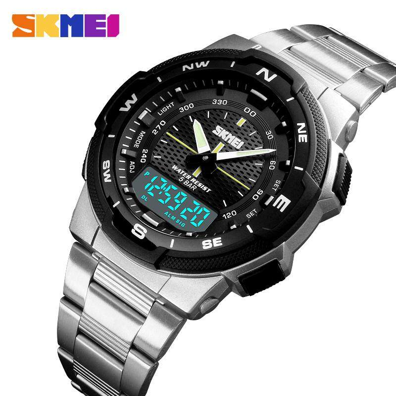 SKMEI Men Watch Fashion Quartz Sports Watches Stainless Steel Mens Watches Top Brand Luxury Business Waterproof Wrist Watch Men Malaysia