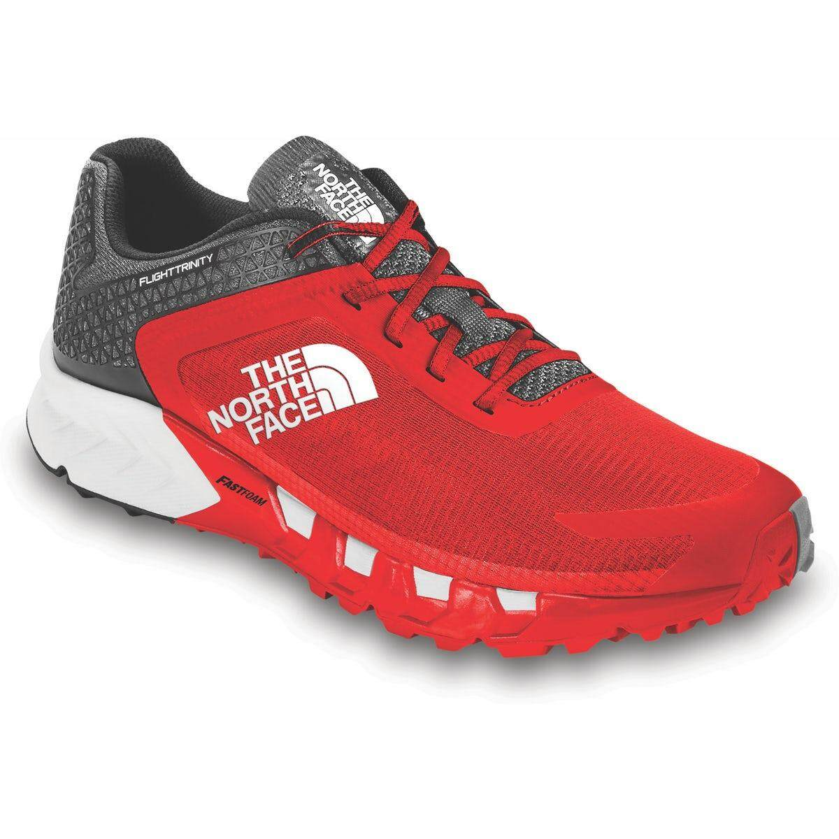 3155ebc64 THE NORTH FACE FLIGHT TRINITY TRAIL RUNNING SHOES - MEN'S (RED)