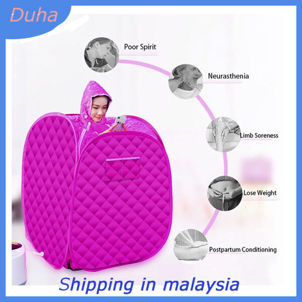Buy 【Duha】Portable Folding One Person Steam Sauna SPA Room Tent Box without Steamer for Weight Loss Full Body Slimming Relaxation Singapore