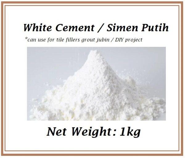 White Cement / Siment Putih for tiles filler 1kg